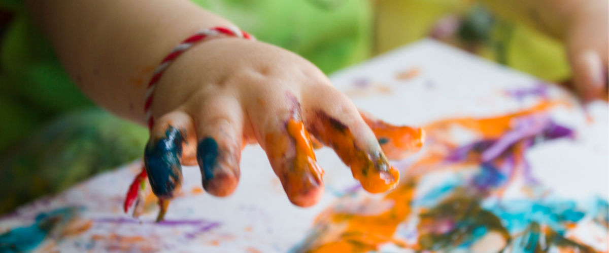 finger-painting photo