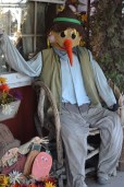 A life-sized scarecrow
