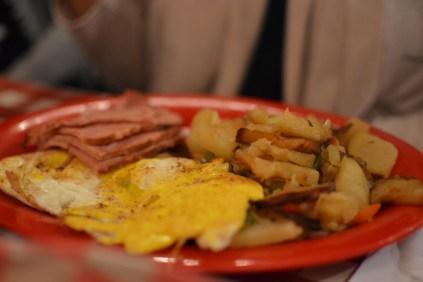 ham, eggs and potatoes