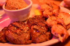 Sirloin combo with grilled shrimps