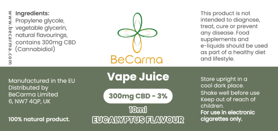 Eucalyptus vape label