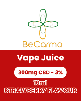 strawberry 300mg vape label