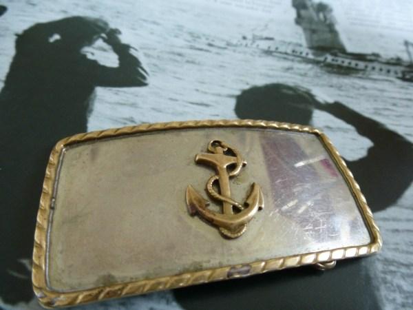 Vintage U. Navy Anchor Belt Buckle - Style
