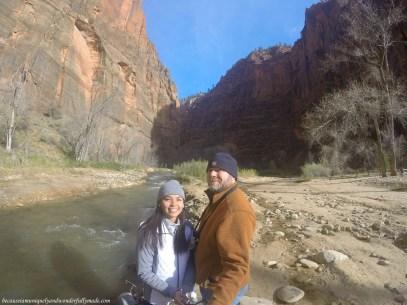 Riverside Walk at Zion National Park in Utah.