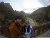 Waiting for sunset at Canyon Junction Bridge at Zion National Park in Springdale, Utah.