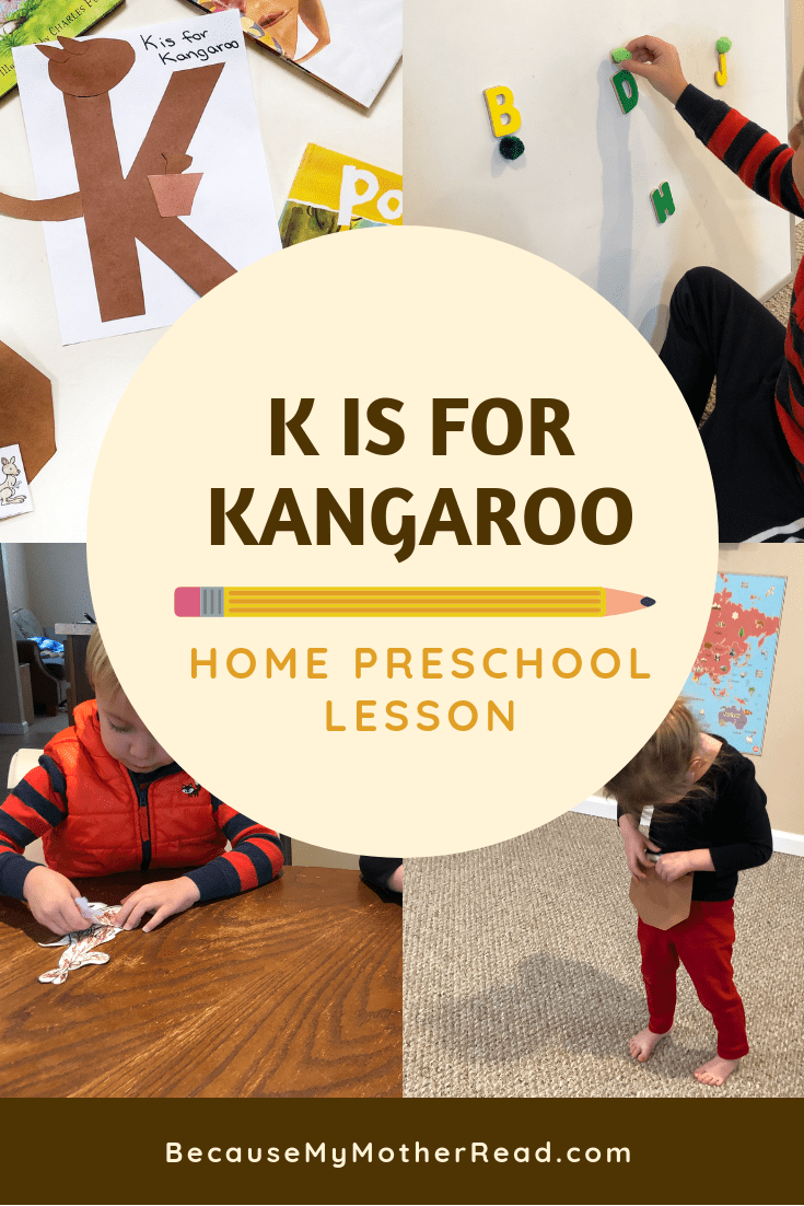 K is for Kangaroo Lesson