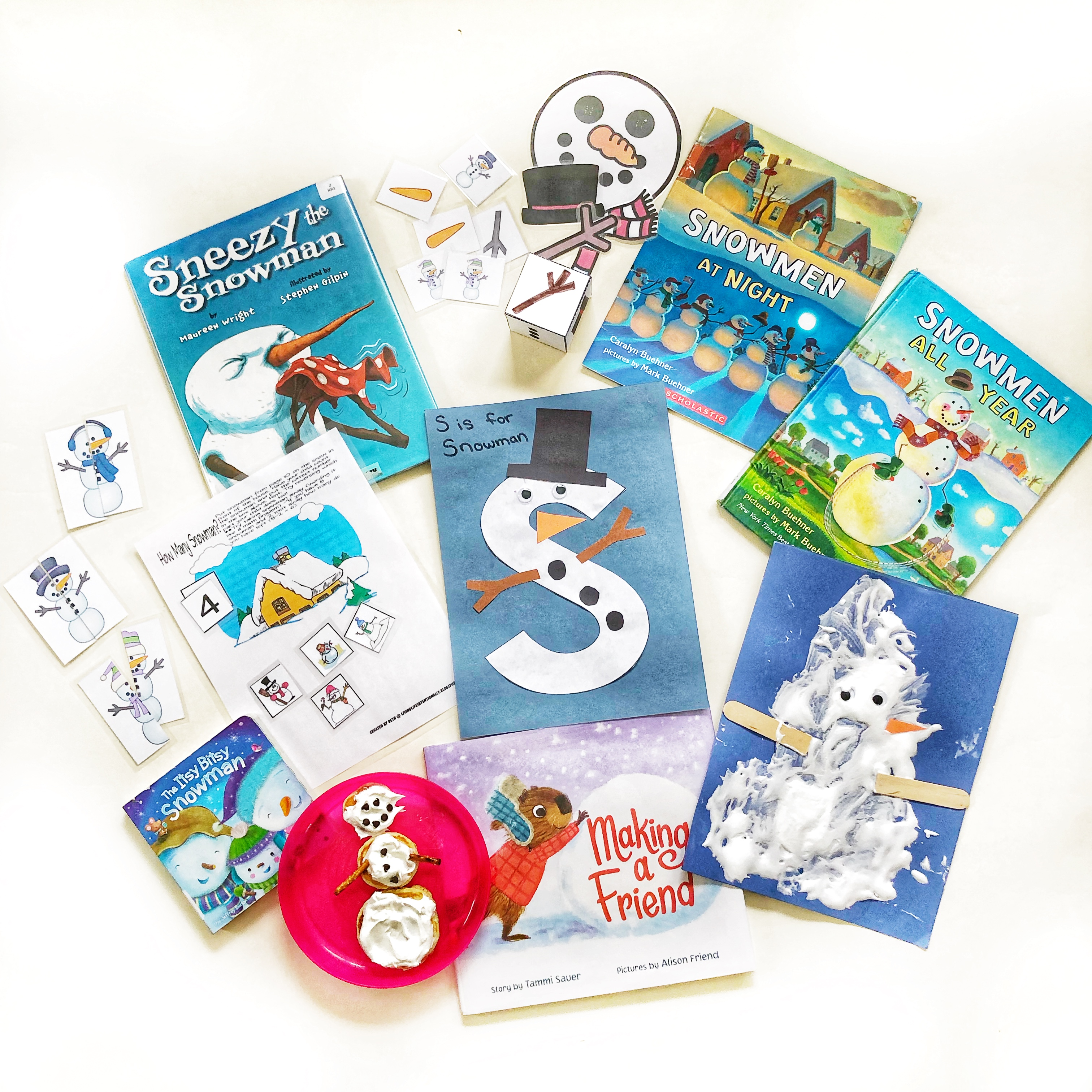 S is for Snowman Lesson