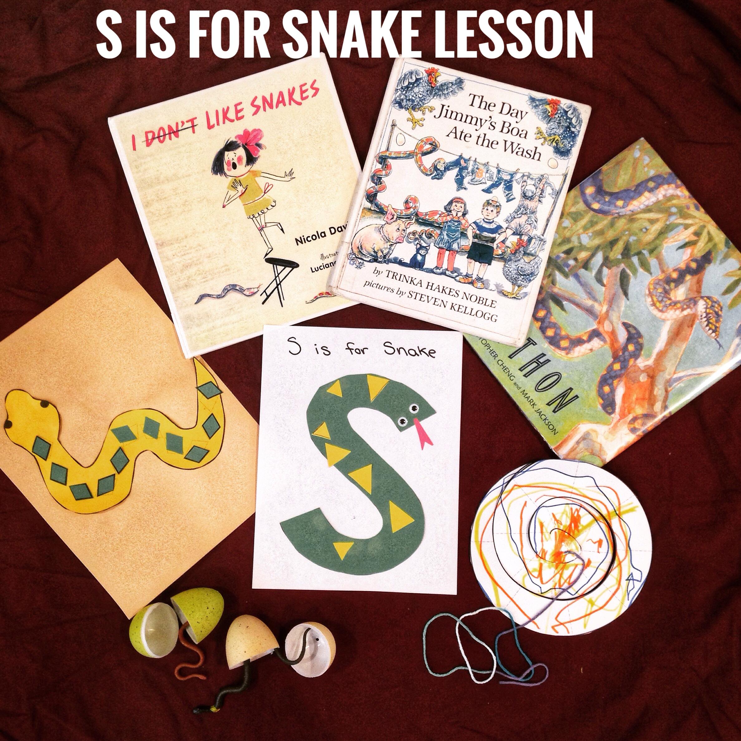 S is for Snake Preschool Lesson