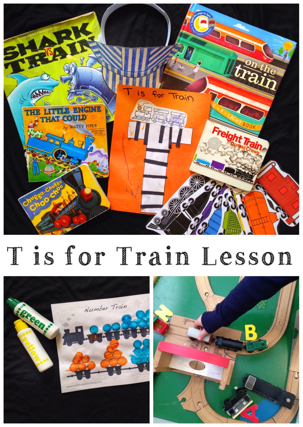 T is for Train Lesson