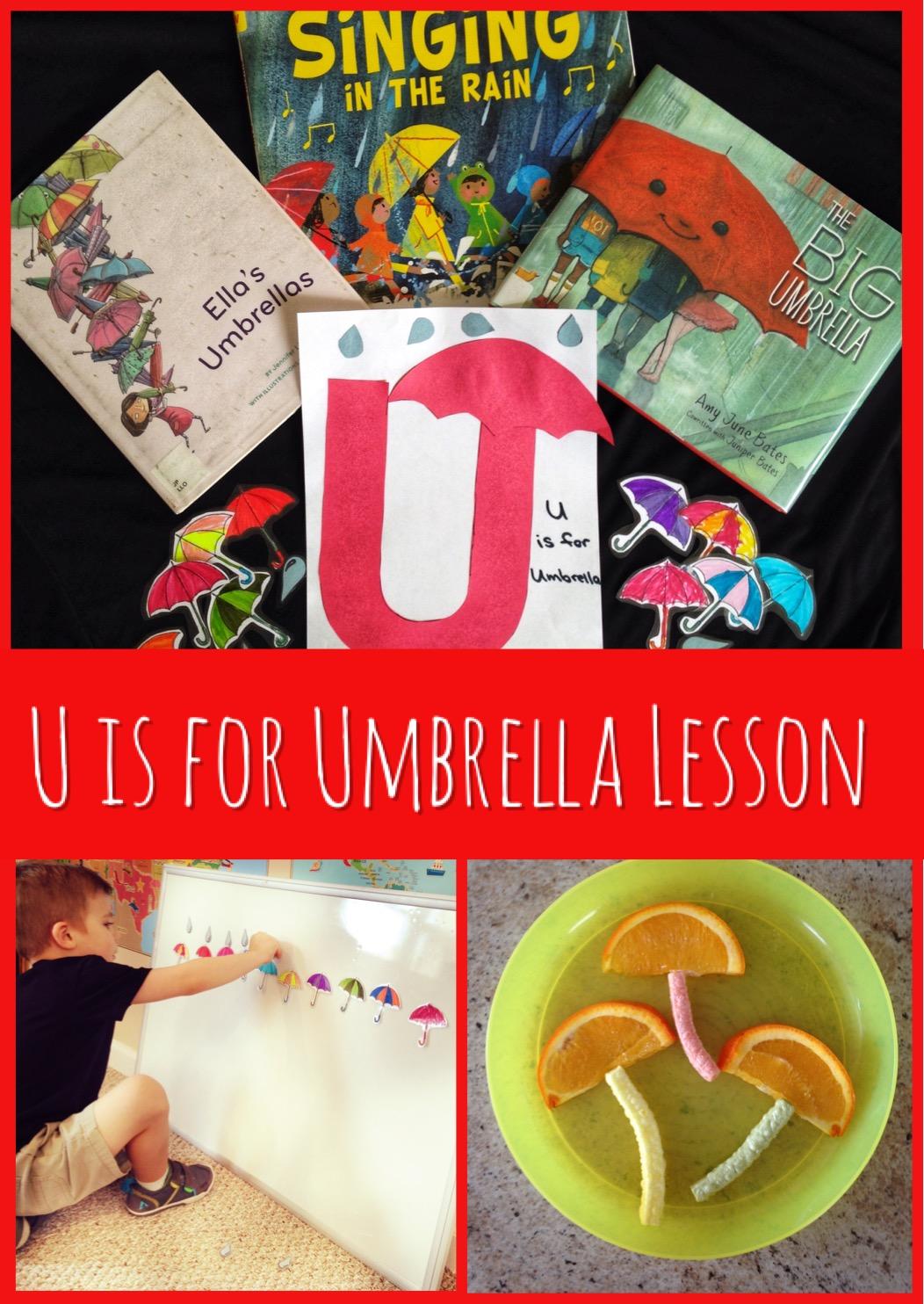U is for Umbrella Preschool Lesson