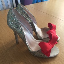 Cinderella Shoes - Red Bow