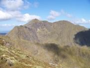 Ladhar Bheinn from the Aonach Sgoilte ridge