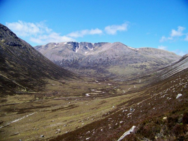Braeriach seen from the Lairig Ghru