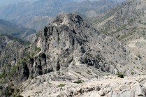 The only way is down – the path snakes down from Lucero to the northern cliffs of Lucerillo