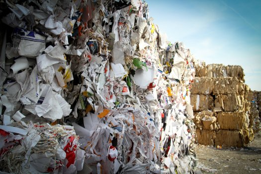 Paper cardboard recycling