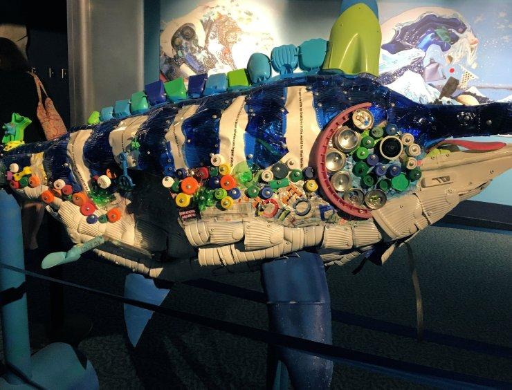 Blue Marlin art installation at the North Carolina Aquarium at Pine Knoll Shores.