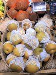 Styrofoam wrapped pears