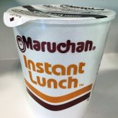 Maruchan instant noodle soup, in #6 polystyrene. Photo by me