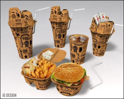 Sustainable fast food packaging idea