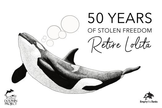Retire Lolita campaign poster