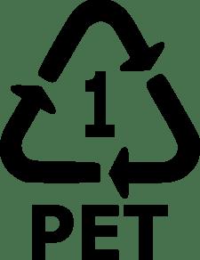 Resin symbol for #1 plastic, or PET.