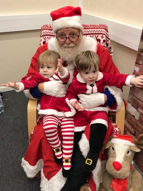 Meeting Santa at the local grotto 2017