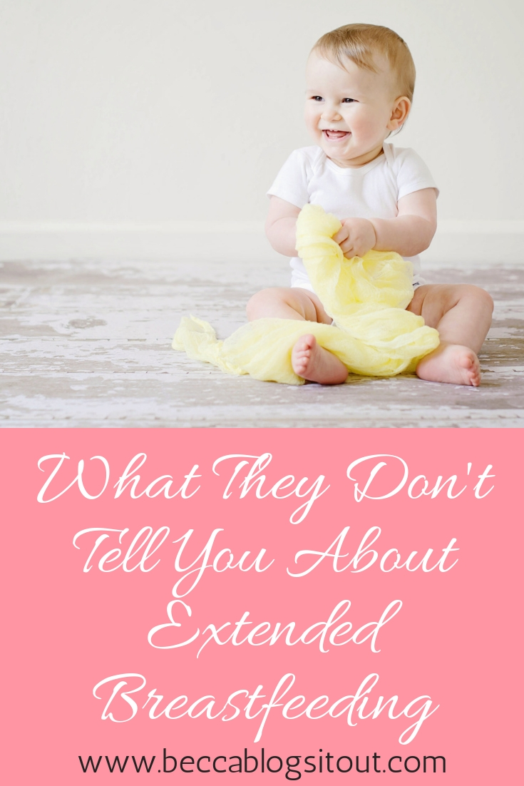 What They Don't Tell You About Extended Breastfeeding, with photo of sitting toddler.
