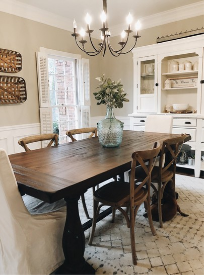 Brown Dining Room Table Decor Leadersrooms