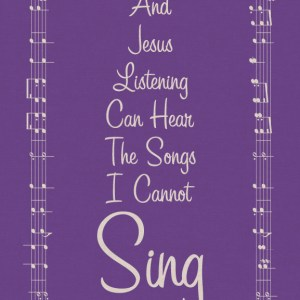 The Songs I Cannot Sing in Purple | BeccaBug.com