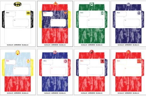 Superhero Envelopes | BeccaBug.com