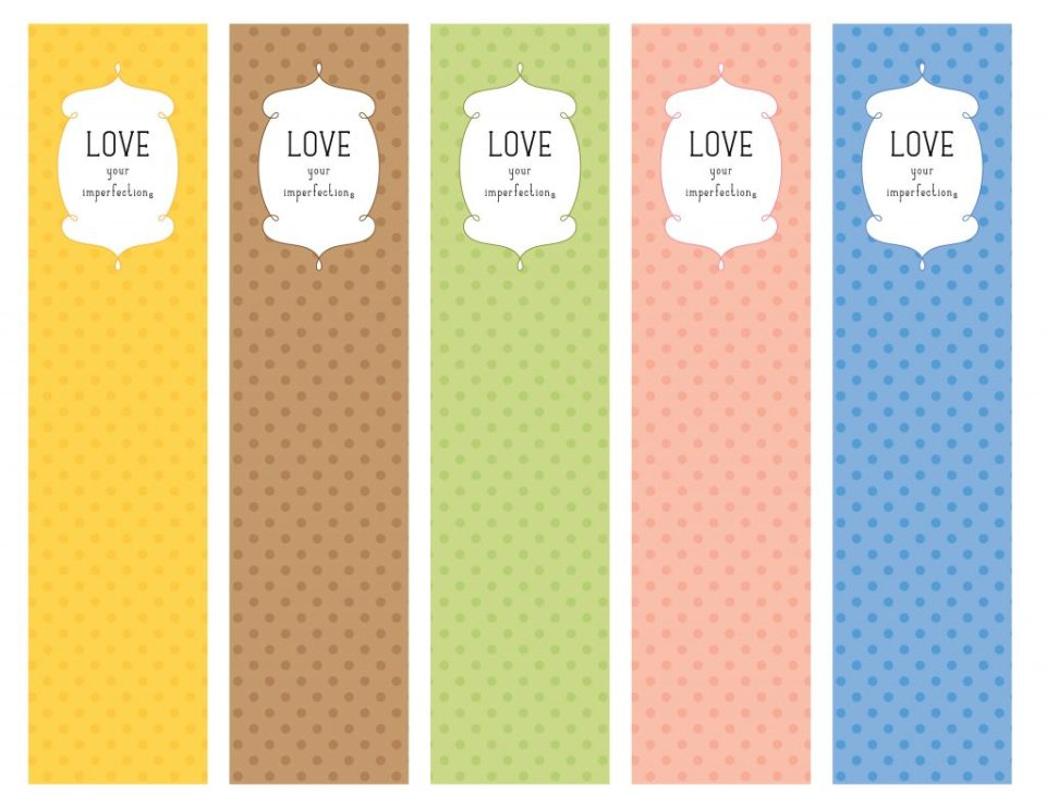 Love Your Imperfections Bookmarks | BeccaBug.com