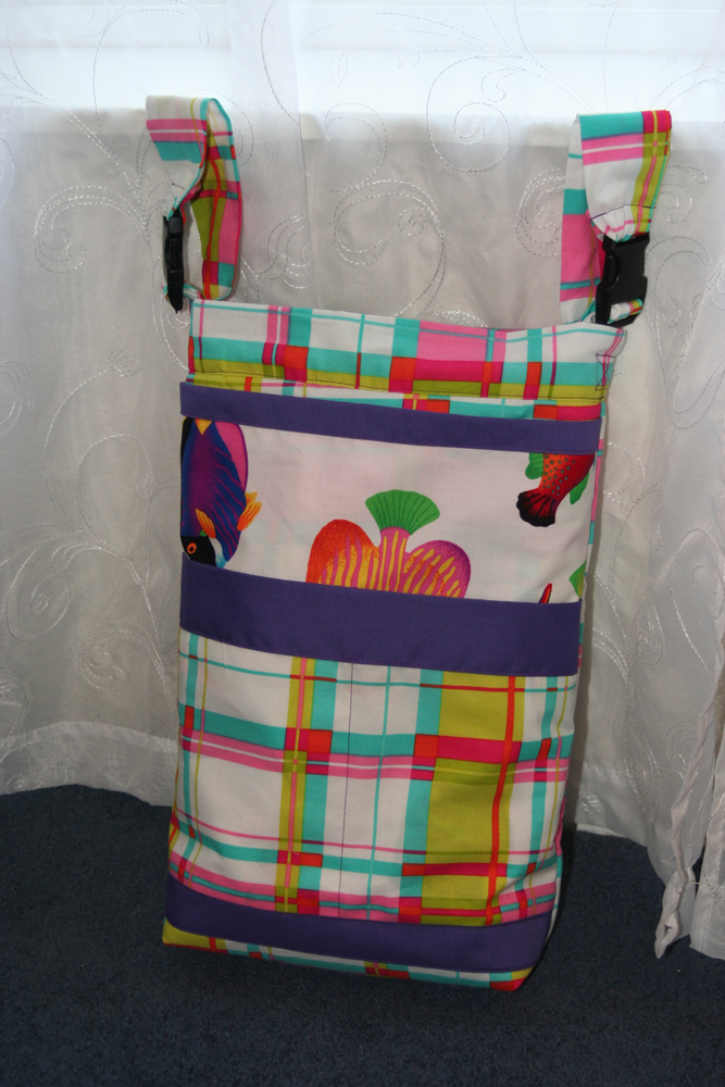 Wheelchair Bag - Plaid with Fish Accents | BeccaBug.com