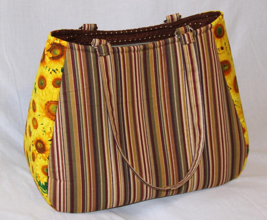 Denise - Sunflower and Stripes Tote Bag - Swoon Ethel XL | Beccabug.com