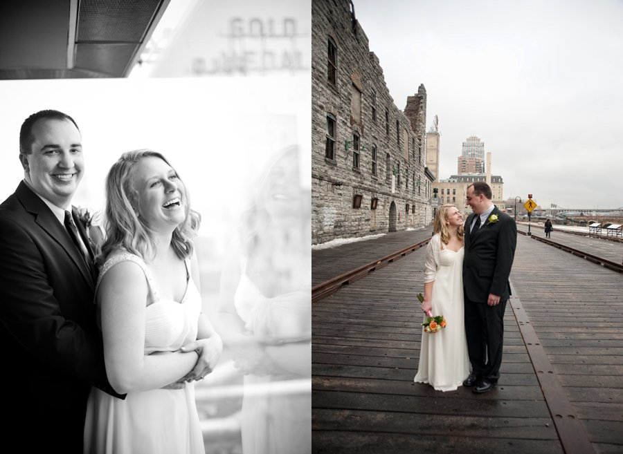 two images together from guthrie theater wedding
