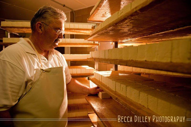 Myron Olson Wisconsin artisan cheesemakers editorial portraits
