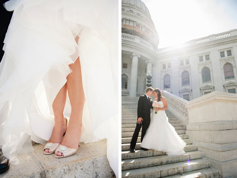 Wedding photos at WI capitol building