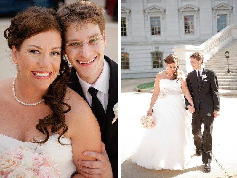 Wedding photos at WI capitol building