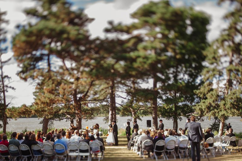 Wedding ceremony at Lake Hiawatha in South Minneapolis