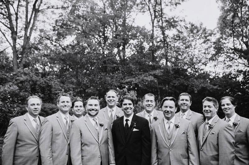 groom with 8 groomsmen