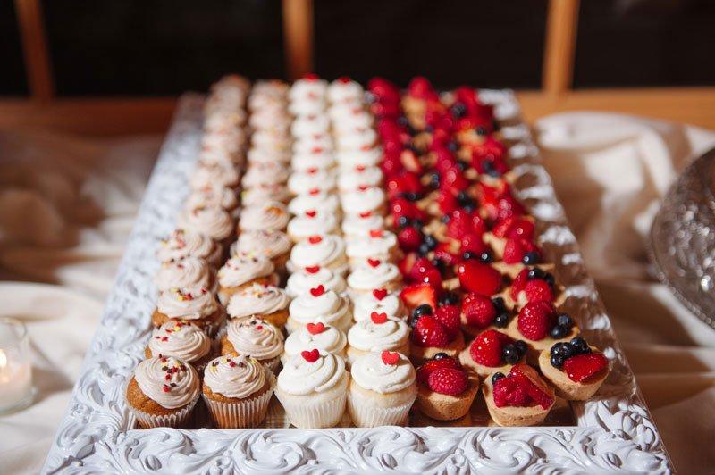 dessert table at Hazeltine National Golf Course wedding reception chaska MN