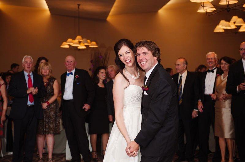 First dance at Hazeltine National Golf Course wedding reception chaska MN