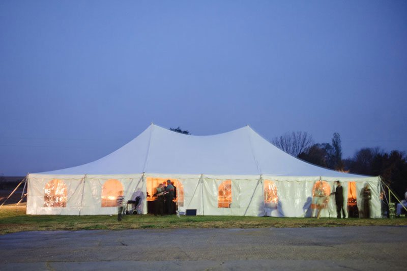 rustic tent for WI barn wedding
