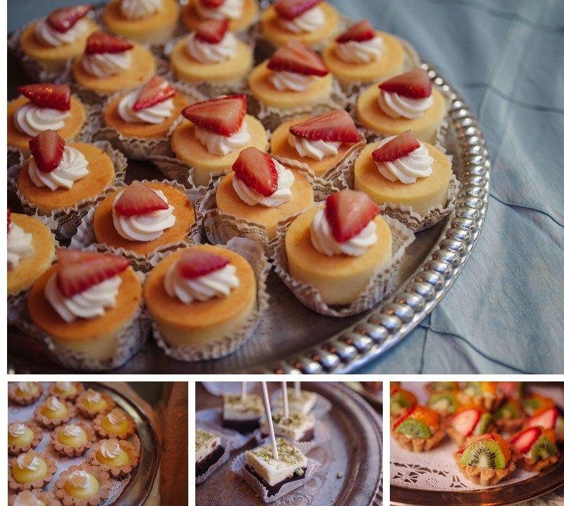 dessert table at varsity theater wedding reception in winter minneapolis