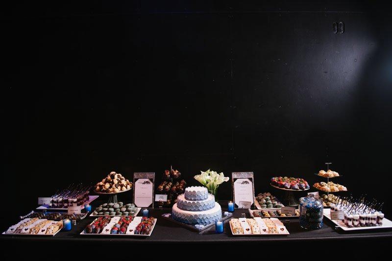 Guthrie theater wedding dessert table