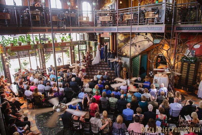ceremony at loring pasta bar minneapolis wedding