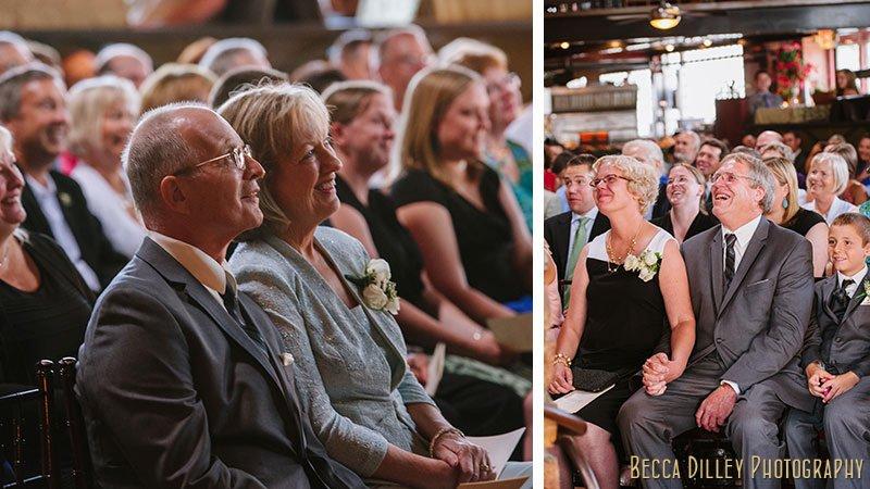 parents watch ceremony at loring pasta bar minneapolis wedding