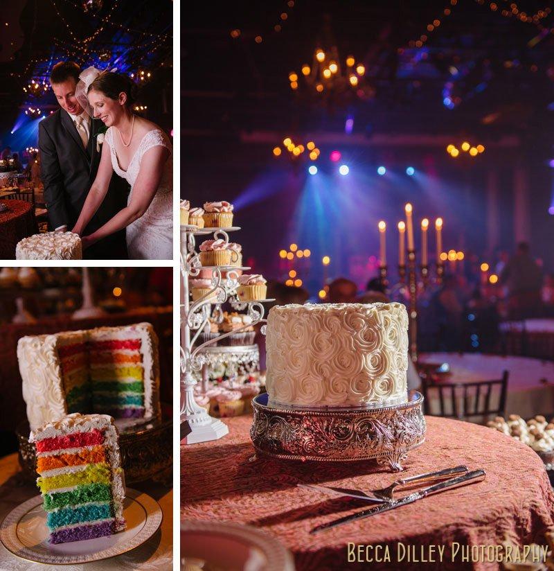rainbow layer cake varsity theater minneapolis wedding