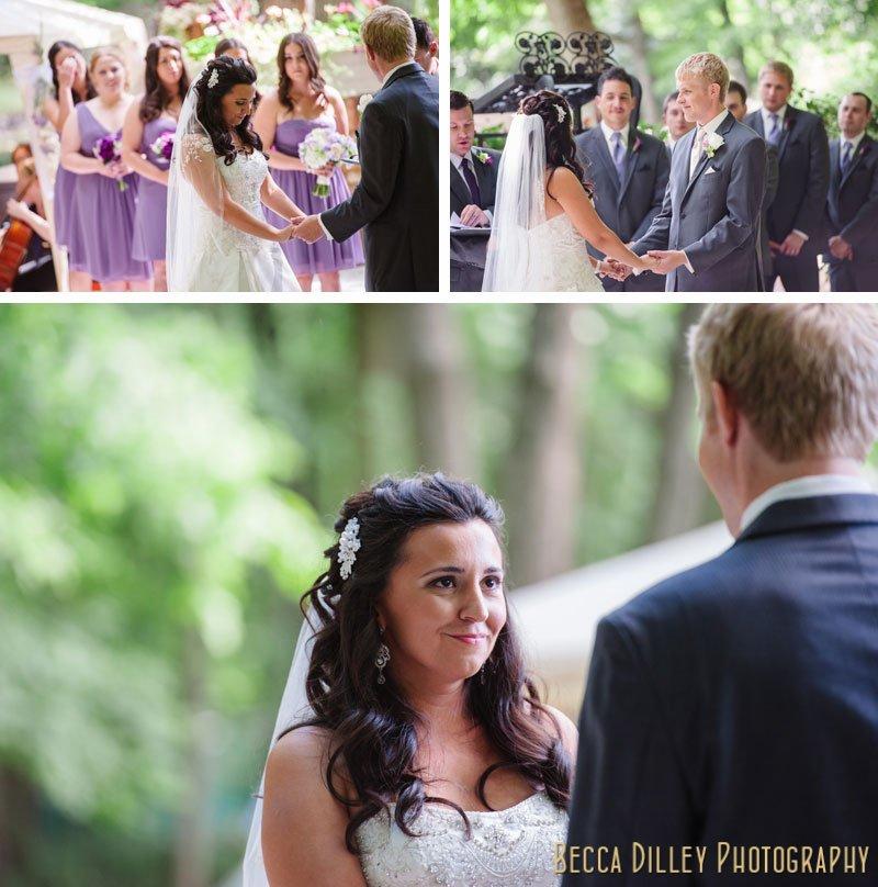ceremony at woods chapel wedding orono mn