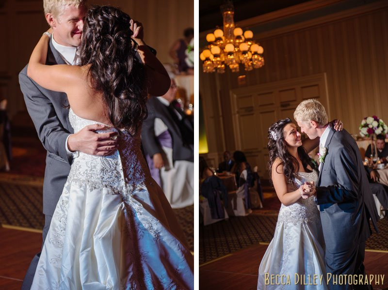 first dance at st paul hotel wedding reception mn