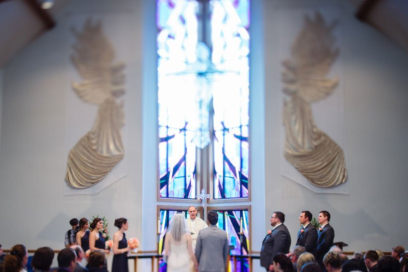 madison wedding ceremony at Church of the living Christ